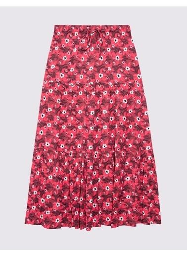 Marks & Spencer Çiçek Desenli Midi Etek Pembe